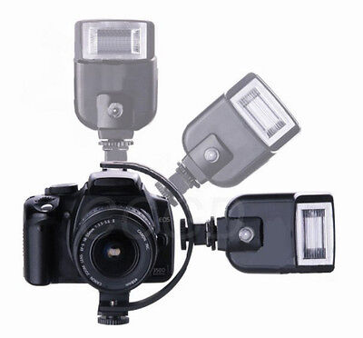 C-Shape Two Flash Bracket for Macro Photography Canon Nikon Camera  Video Light