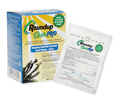 Roundup QuikPro 73.3% 5 - 1.5 oz. packets makes 5 gallons Round Up QuickPro