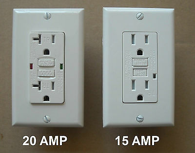 15A  20A Amp T/R Gfi Gfci Receptacle Tamper Resistant Tr Ivory Gray White Black