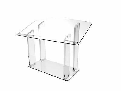 Table desk top Podium: Acrylic/Podium/Lectern/Pulpit/Plexiglass/Lucite/clear -6