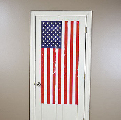 Plastic USA Flag Door Cover (35/936)