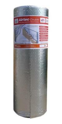 YBS Airtec Double Foil Reflective Bubble Insulation 1050mm x 25m Roll