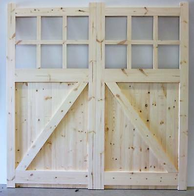 """Wooden timber softwood garage doors pairs made to measure up to 84x96"""""""