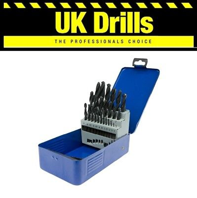 25PC piece HSS DRILL BIT SET, 1MM - 13MM HSS DRILL BITS