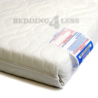 Baby Cot Bed MATTRESS Breathable QUILTED 140 x 70 x 7.5 CM