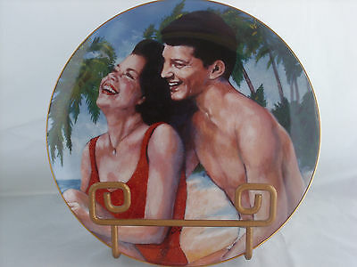 Frankie & Annette Fun in the Sun Plate Limited Edition