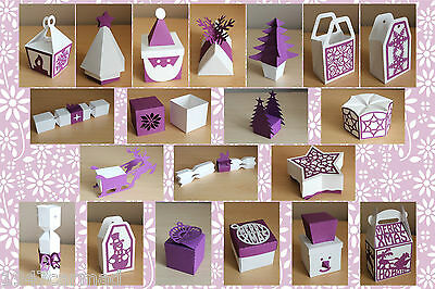 CRAFT ROBO/SILHOUETTE Xmas Gift Box, Bag & Favour templates CD96 by cocopopart