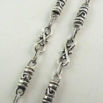 30132 Antique Style Silver Tone Alloy 1M Chain Letter S Jewelry Finding