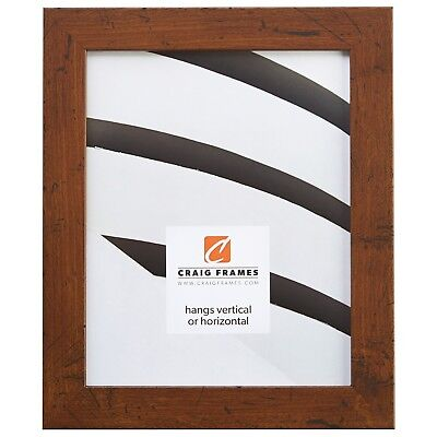 "Craig Frames 1.25"" Wide Distressed Rustic Brown Picture Frames & Poster Frames"