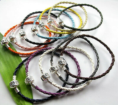 ON SALE!! JudyCollection 13pcs Mix Colour 3mm Braid Leather Bracelets