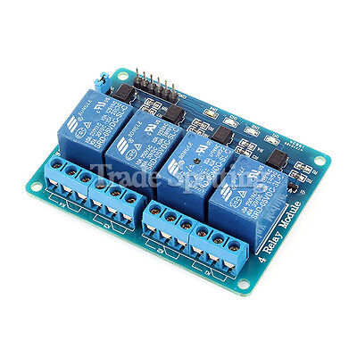 5V 4 Channel Relay Module PLC Control OptoCoupler Isolation for 51 PIC AVR ARM