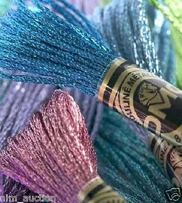 DMC Light Effect / Metallic Floss - Choose from 36 colors or combo sets
