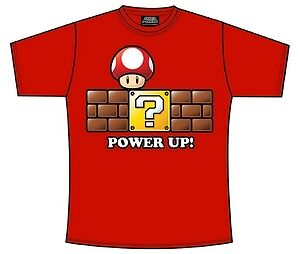 "T-Shirt Magletta Originale Nintendo Super Mario Bros Power Up Tg "" Xs "" 26847"
