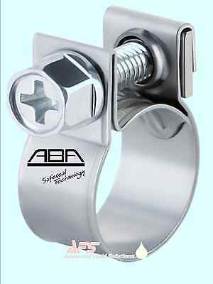 ABA W4 STAINLESS STEEL Mini Nut & Bolt Fuel Hose Clip Air Water Nano Pipe Clamp