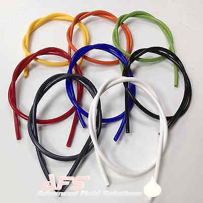 Silicone Vacuum Vac Hose Pipe Tube 3mm 4mm 5mm 6mm All Colours Boost Tubing AFS