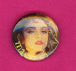 Madonna 1990 UK petite badge button pinback PP