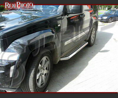 Jeep Cherokee Kk 2008+ Side Steps / Running Boards + Gratis! Stainless Steel