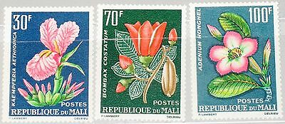 MALI 1963 78-80 55-57 Flowers Blumen Flora Tropical Plants Definitives MNH