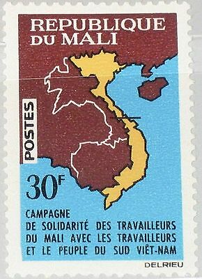 MALI 1964 92 66 Solidarity with Vietnam Map of Southeast Asia Karte Asien MNH