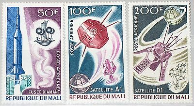 MALI 1967 141-43 C42-44 French Achievements in Space Franz Weltraumforschung MNH