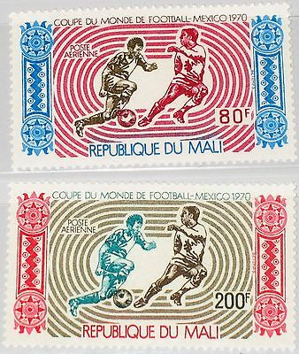 MALI 1970 238-39 C101-02 Soccer World Cup Mexico City Fußball WM Football MNH