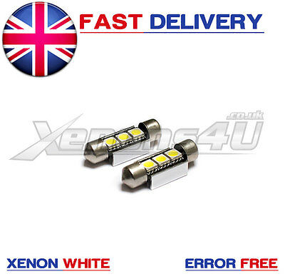2x 36mm 3 LED License Number Plate Light Bulbs Error Free Canbus Xenon White C5W