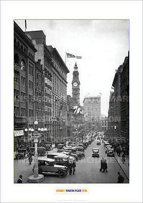 SYDNEY MARTIN PLACE 1918 HERITAGE A3 POSTER PICTURE IMAGE PRINT PHOTO x