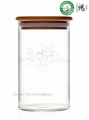 Clear Glass Canister * Hermetic Caddy 800ml FH-905L
