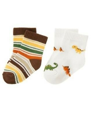 GYMBOREE LITTLE PALS PUPPY N STRIPE 2-PAIR OF BOYS SOCKS 0 3 6 12 18 24 NWT