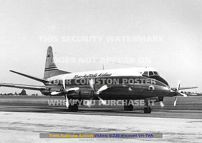 TAA VICKERS V.720 VISCOUNT VH-TVA MANGALORE A3 POSTER PICTURE PHOTO IMAGE x