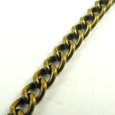 30264 Antique Style Bronze Tone Brass Simple Chains Jewelry Finding 4M