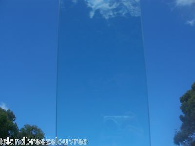 LOUVRE WINDOW GLASS CLEAR AUSTRALIAN STANDARD 150mm 900max