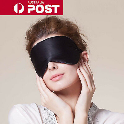 New Pure Silk Sleep Eye Mask Padded Shade Cover Travel Relax Aid Blindfold