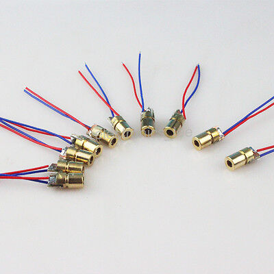 10pcs Mini 650nm 6mm 3V 5mW Laser Dot Diode Module Red