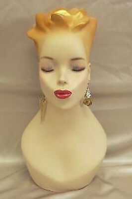 Mannequin Head Bust Vintage Wig Hat Jewelry Display#Y4G