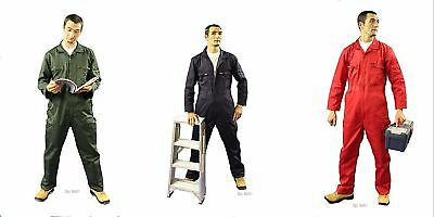 NEW Good Quality Zip Front Boilersuit Coverall Overalls - Choice Colour & Size