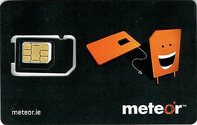 Meteor Ireland Irish 4G Prepay SIM, Microsim, Nanosim with Data to use in Europe