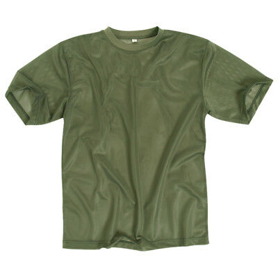 Military Army Tactical Mens Mesh T-Shirt Breathable Airsoft Travel Hiking Olive