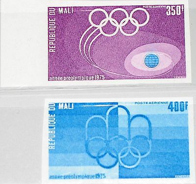 MALI 1975 503-04 B C262-63 Pre-Olympic Year Vorolympisches Jahr Rings Emblem MNH