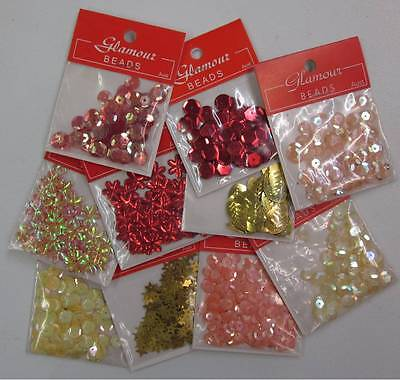 SUMMER MIX Sequins seed beads Embellishments embroidery scrapbooking arts crafts