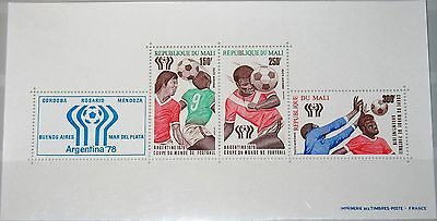 MALI 1978 Block 10 II C328b Soccer World Cup Argentina Fußball WM Football MNH