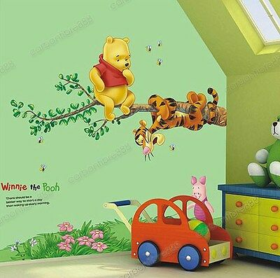 Winnie The Pooh Tigger Tree Piglet Wall Stickers Removable Childs Nursery Decal