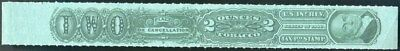 Tobacco Strip Taxpaid Stamp Springer TG102A