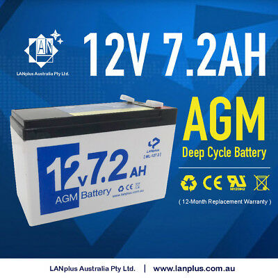 New 12v 7.2ah Alarm UPS SLA battery 12 volt > 7ah Sealed Lead Acid Rechargeable