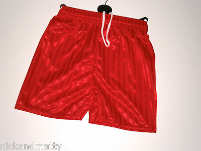 Boys-Girls Red School  Pe Sports-Games Shorts 3 To 12 Years