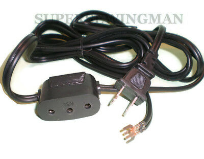 DOUBLE LEAD POWER CORD SINGER FEATHERWEIGHT 221,27,class 15&66,201,206,301,401..