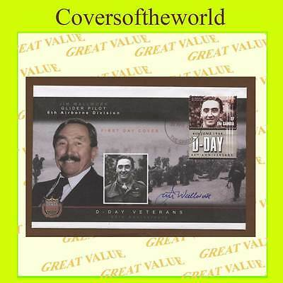 Gambia  2004 D-Day anniv., Jim Walwork, Glider Pilot signed, First Day Cover