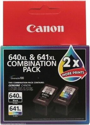 2 Canon Genuine Pg640Xl Cl641Xl 640 641 Ink Mg2160/mg3160/mg4160/mx516 Original