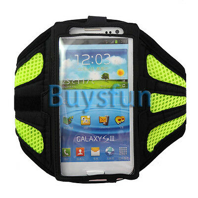 Green Sport Gym Armband Case Cover For Samsung Galaxy S3 i9300