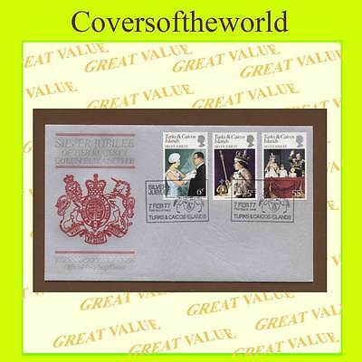 Turks & Caicos Is. 1977 Silver Jubilee set First Day Cover